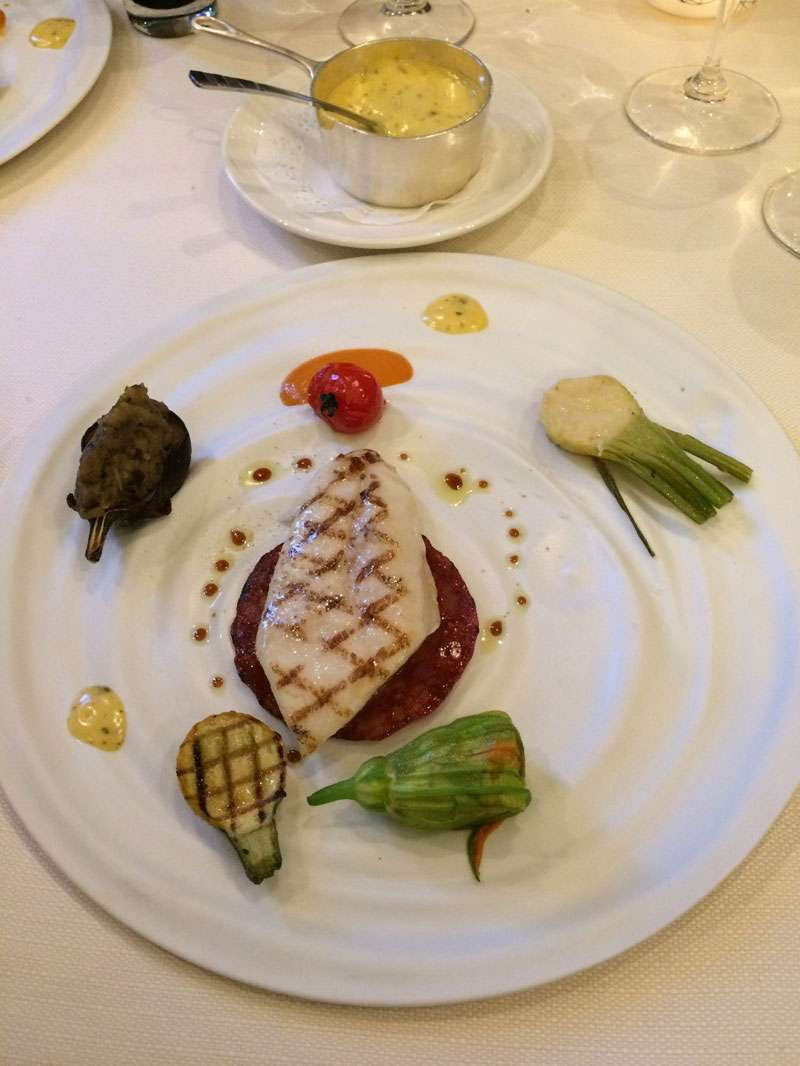 Fish course -