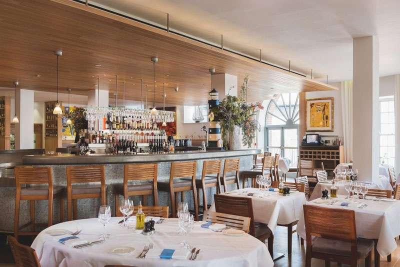 The restaurant interior was designed by Jill Stein.