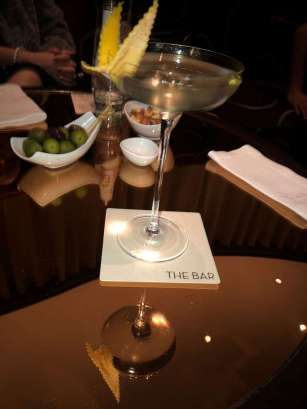 """The """"Perfect IO"""" – the perfect, classic martini, created by bar manager Giuliano Morandin, using Lillet blanc, bespoke grapefruit bitters and Tanqueray No. Ten"""