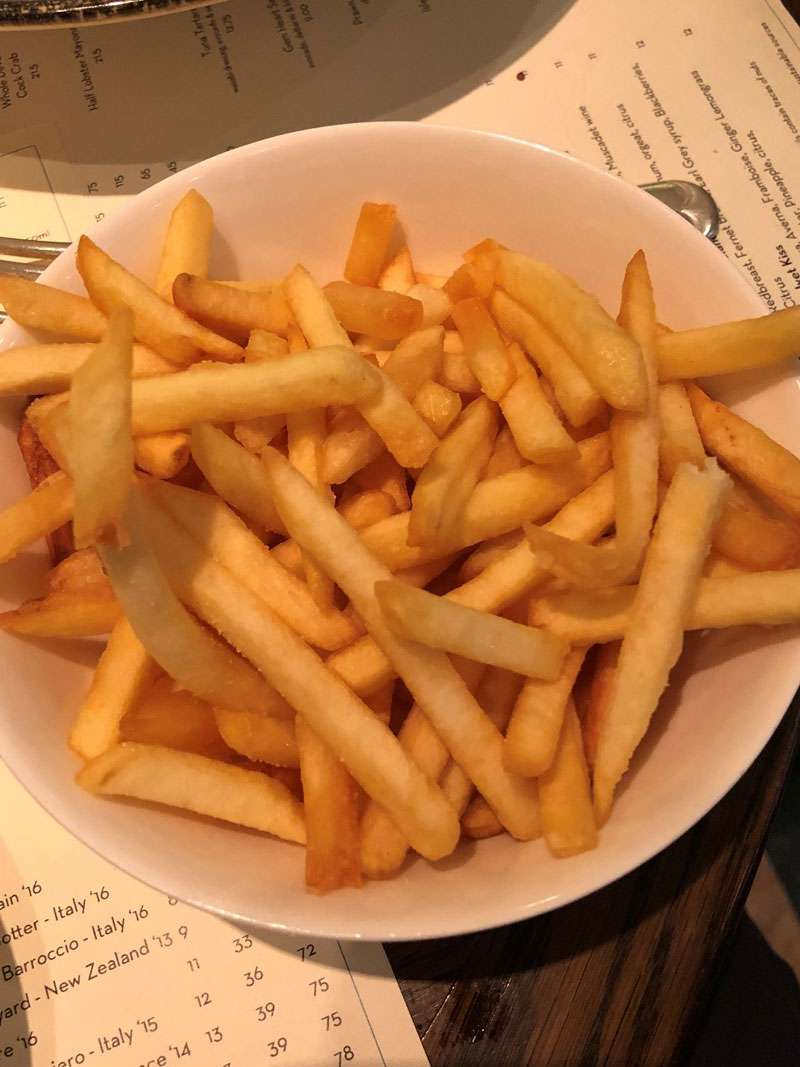 Chips to go with the sole and soak up the butter