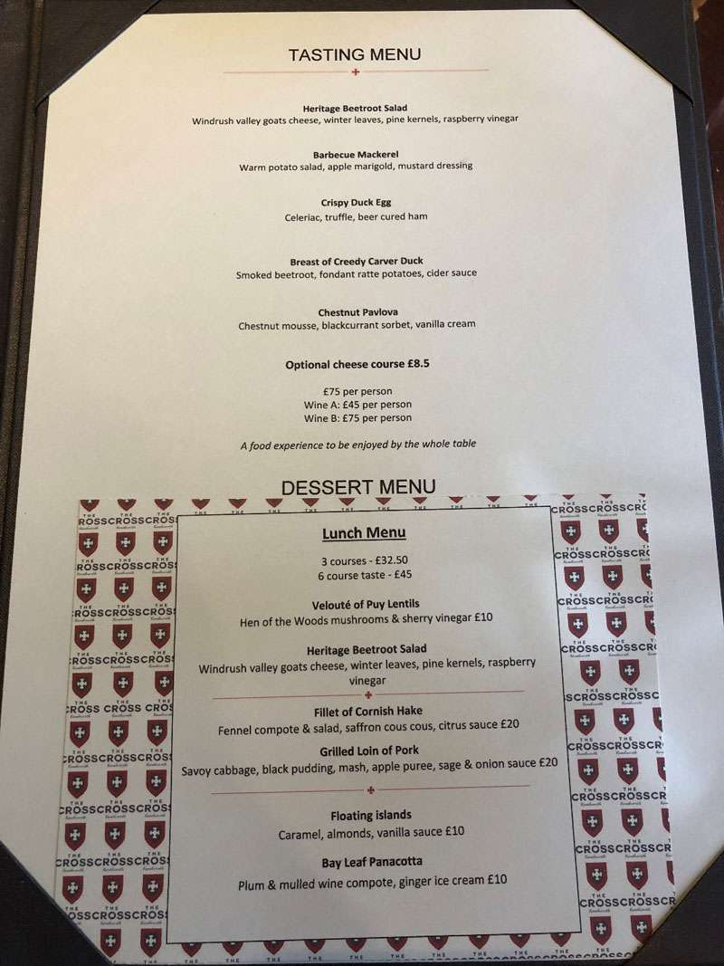 Tasting and Lunch Menus