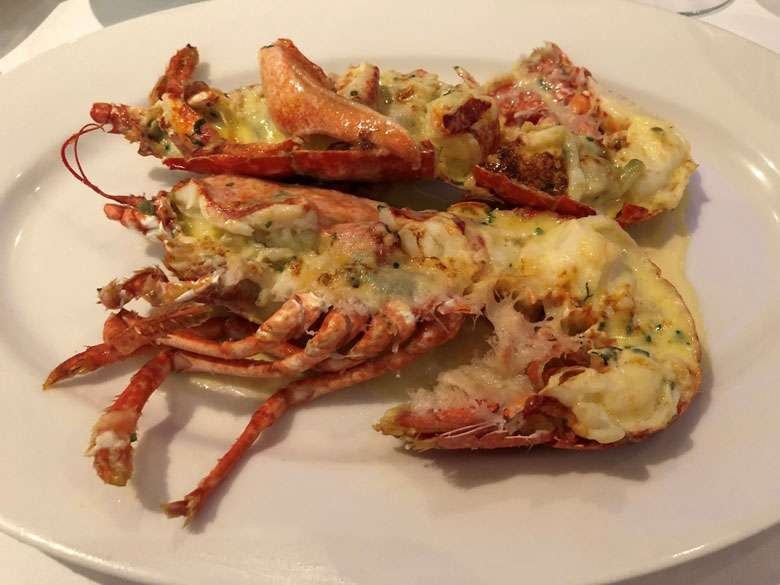 Main course - lobster thermidor