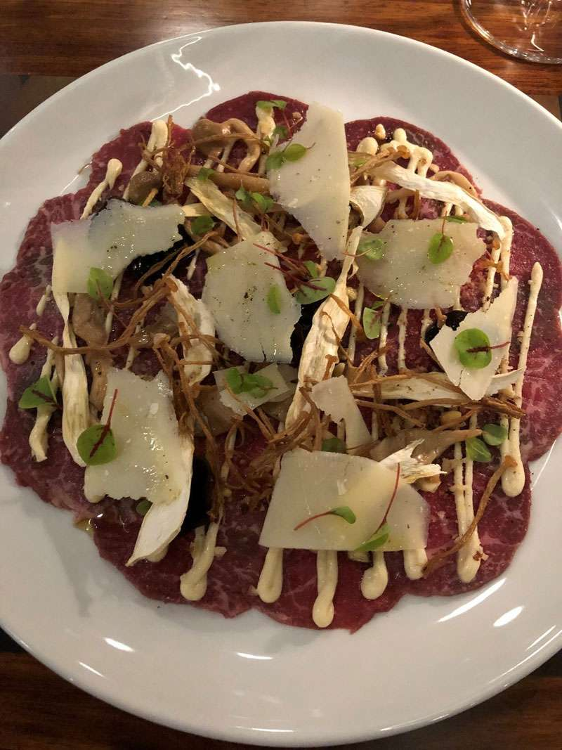 Beef carpaccio starter