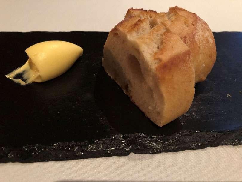 Warm house-baked sourdough bread