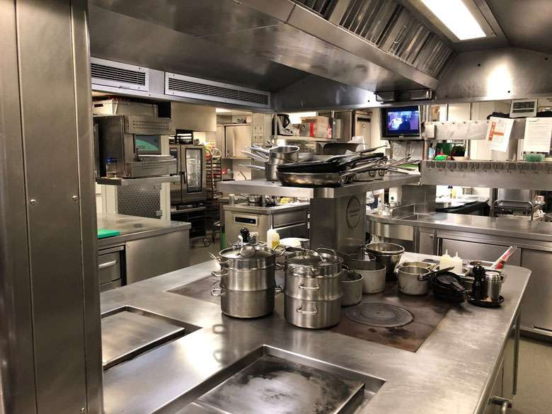 The diners are monitored on a camera system