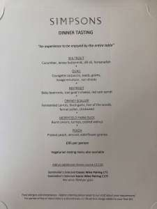 The Gastronome Restaurant Reviews - Simpsons Restaurant, Birmingham