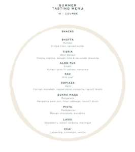 The Summer 10-Course Tasting Menu: