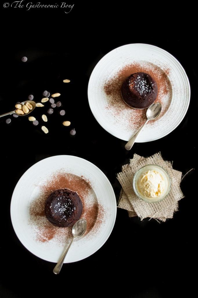 Chocolate-Crunchy Peanut Butter Molten Lava Cake sprinkled with Fleur de Sel4