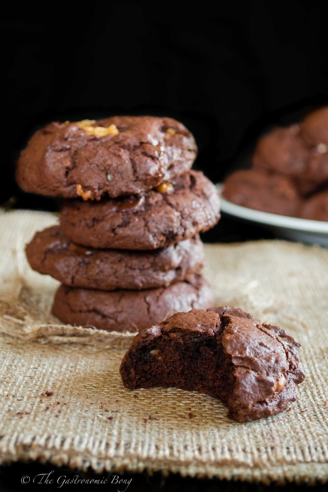 Double Chocolate Brownie Cookies with Walnuts and Candied Orange Peel7