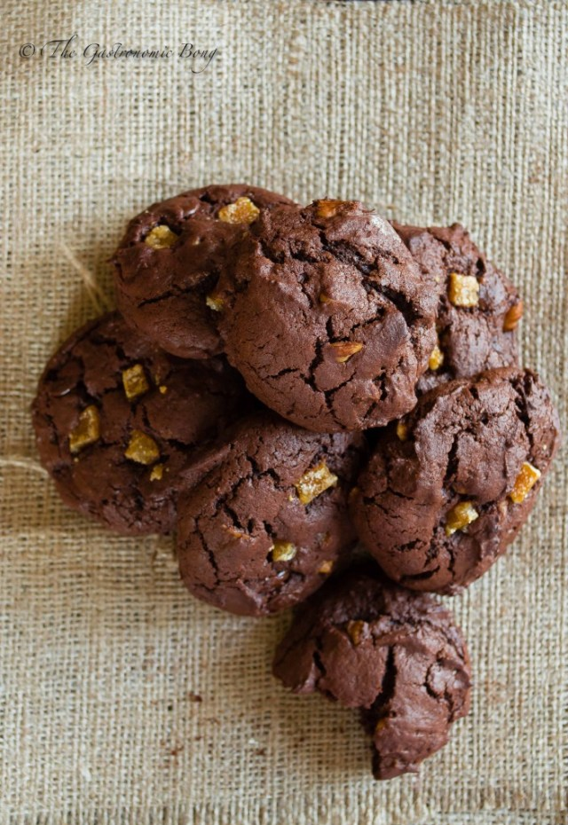 Double Chocolate Brownie Cookies with Walnuts and Candied Orange Peel8