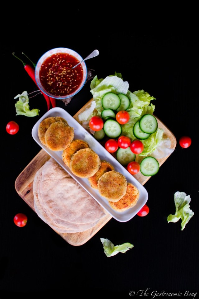 Sweet Chilli Crispy Chickpea Patty Wrap2