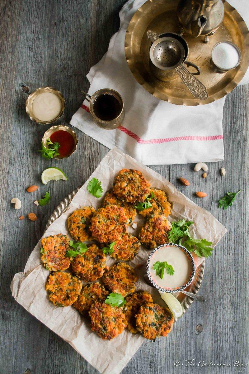 Gluten-Free Zucchini Sweet Potatoes and Chicken Fritters With Honey-Mustard Yogurt Dip