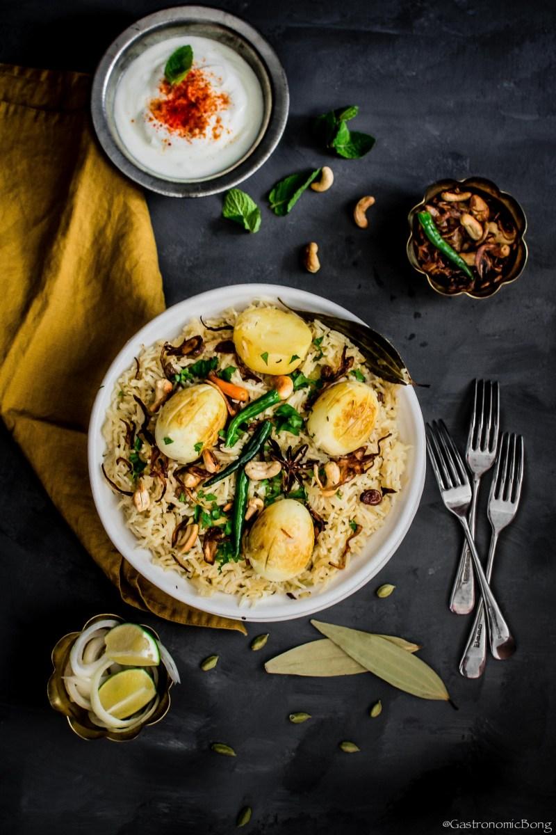 Bengali style dim pulao- Anda pulao