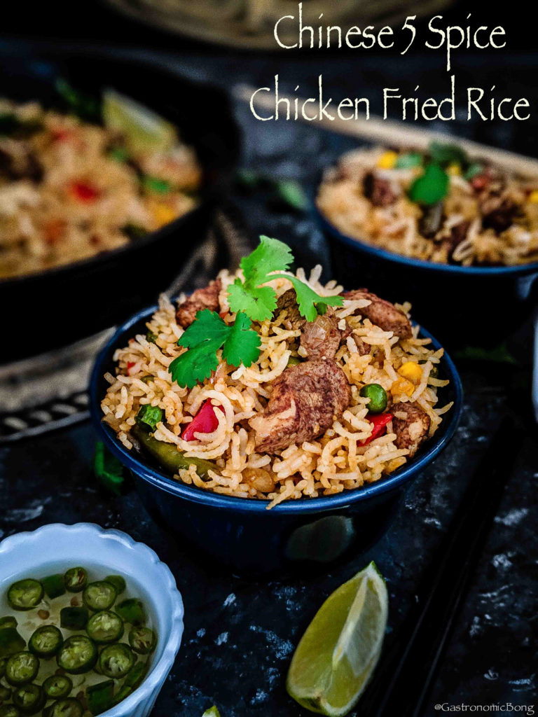 Chinese five spice chicken fried rice