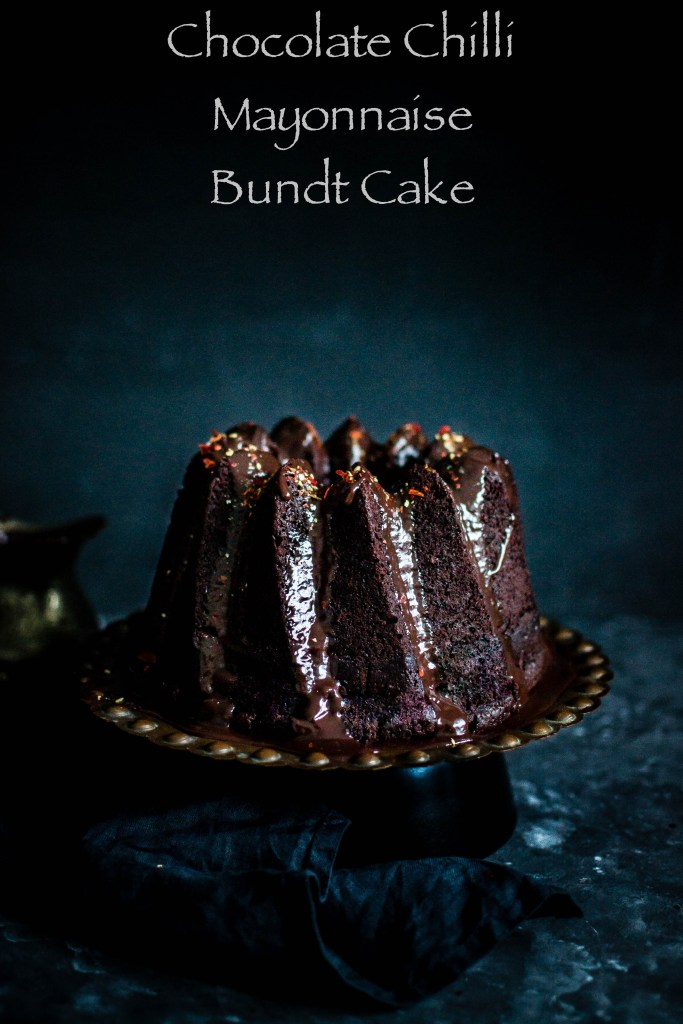 Chocolate and Chilli Mayonnaise bundt Cake