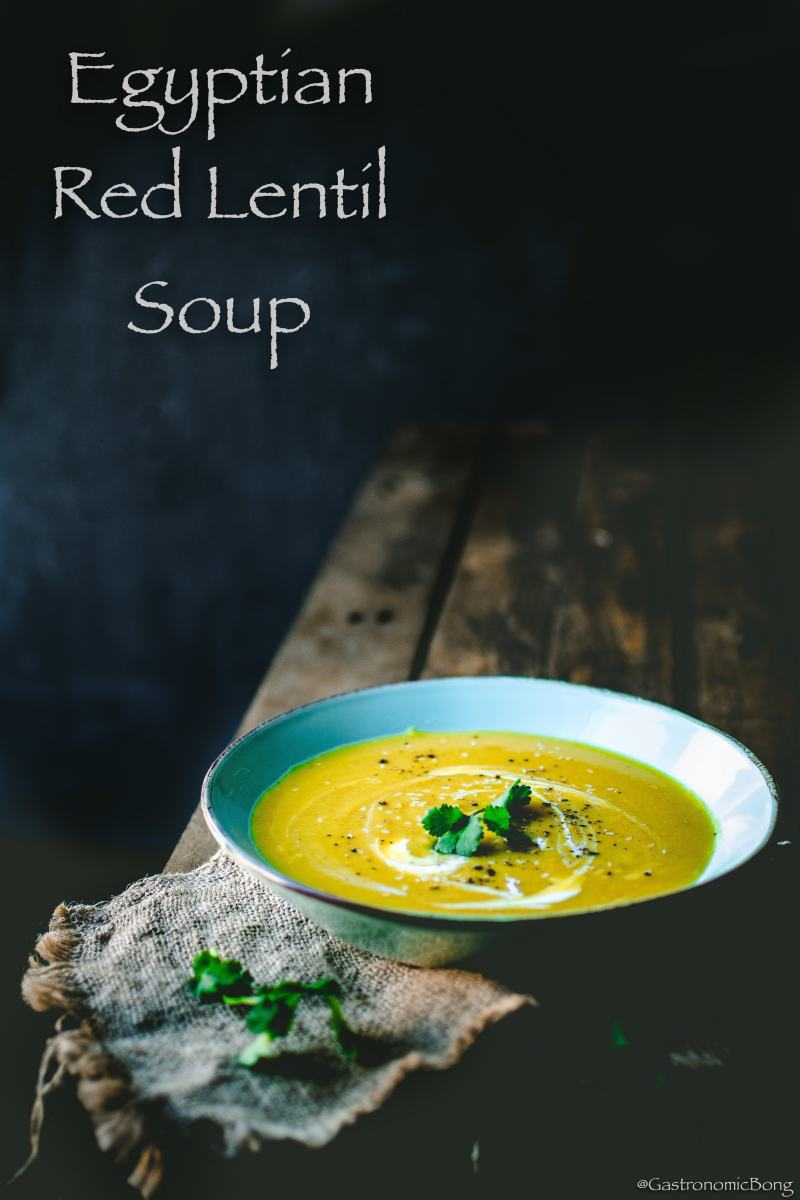 Egyptian Red Lentil Soup (Shorbet Ads Masri)