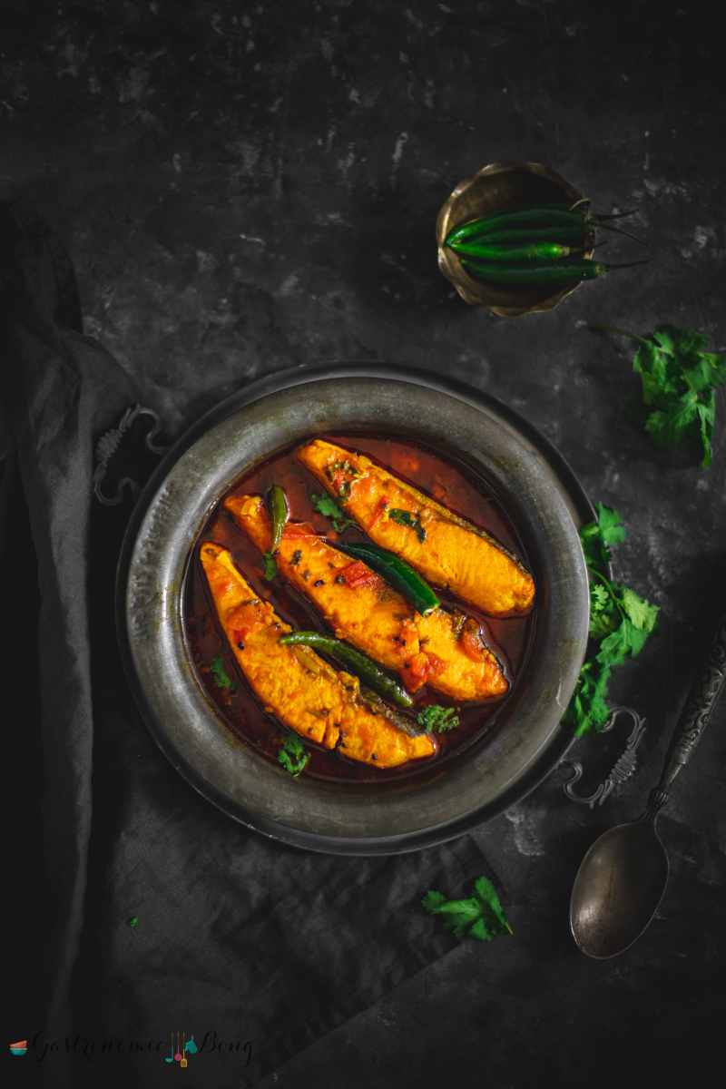 Salmon Macher Tel Jhal (Bengali Salmon Fish Curry)