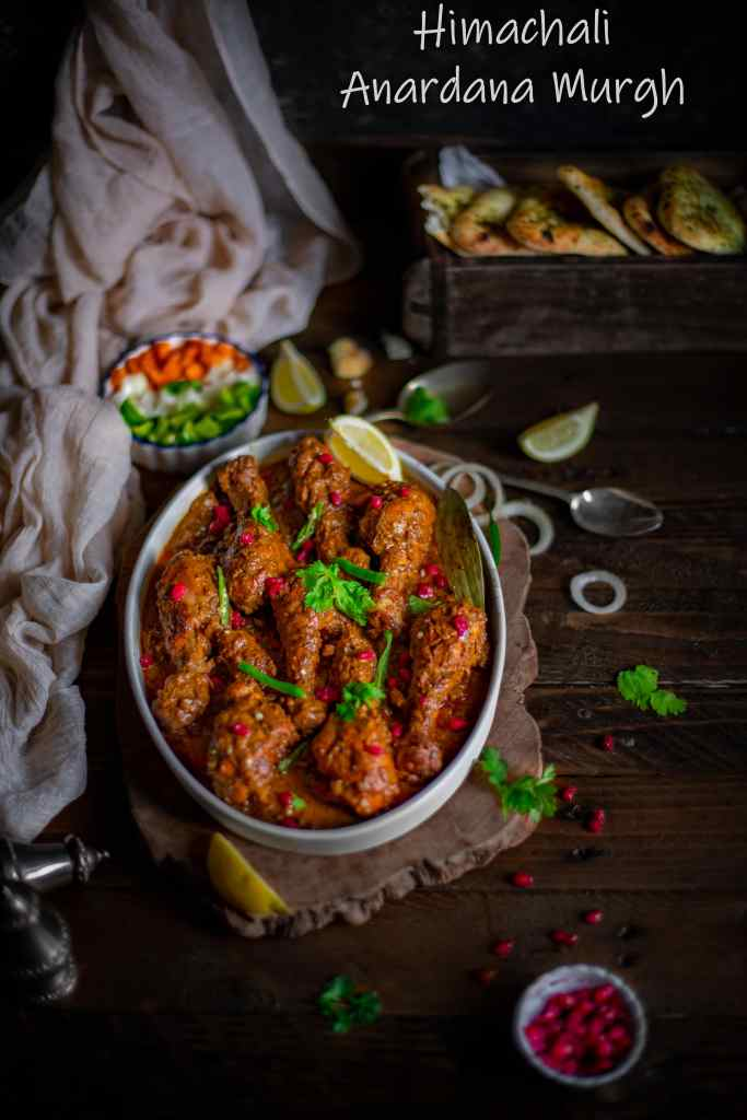 Anardana Chicken Himachali Style (Pomegranate Chicken)