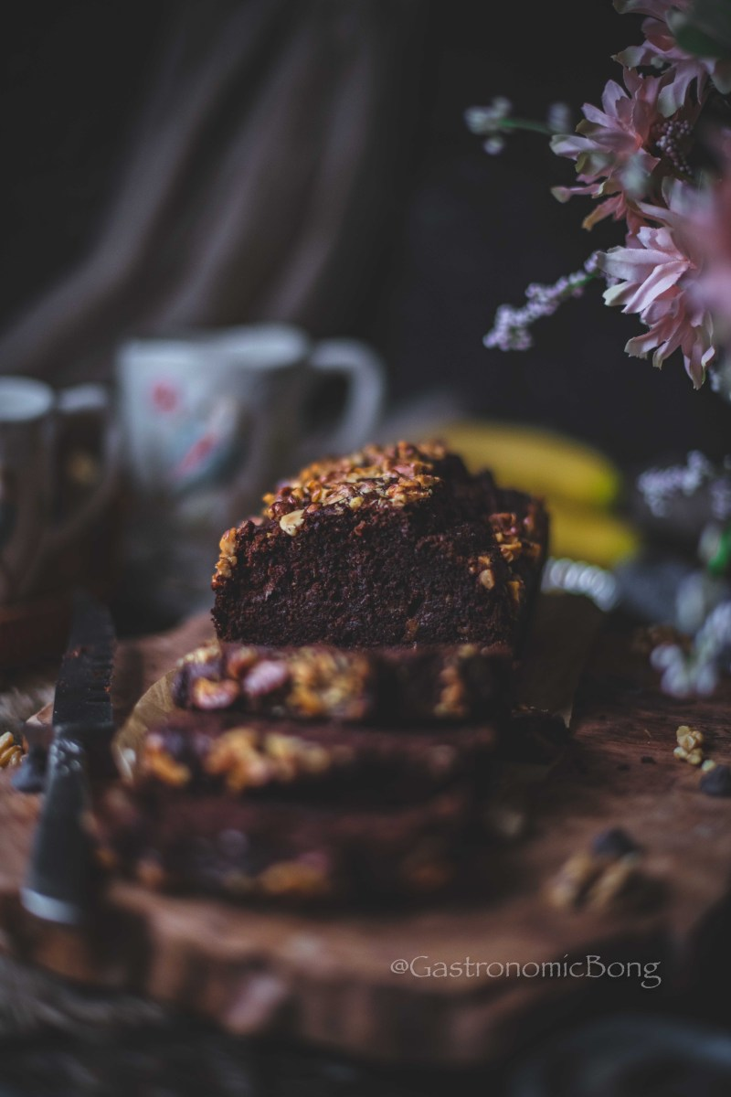 Chocolate Banana Walnut Loaf
