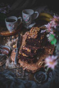 Chocolate banana walnut loaf