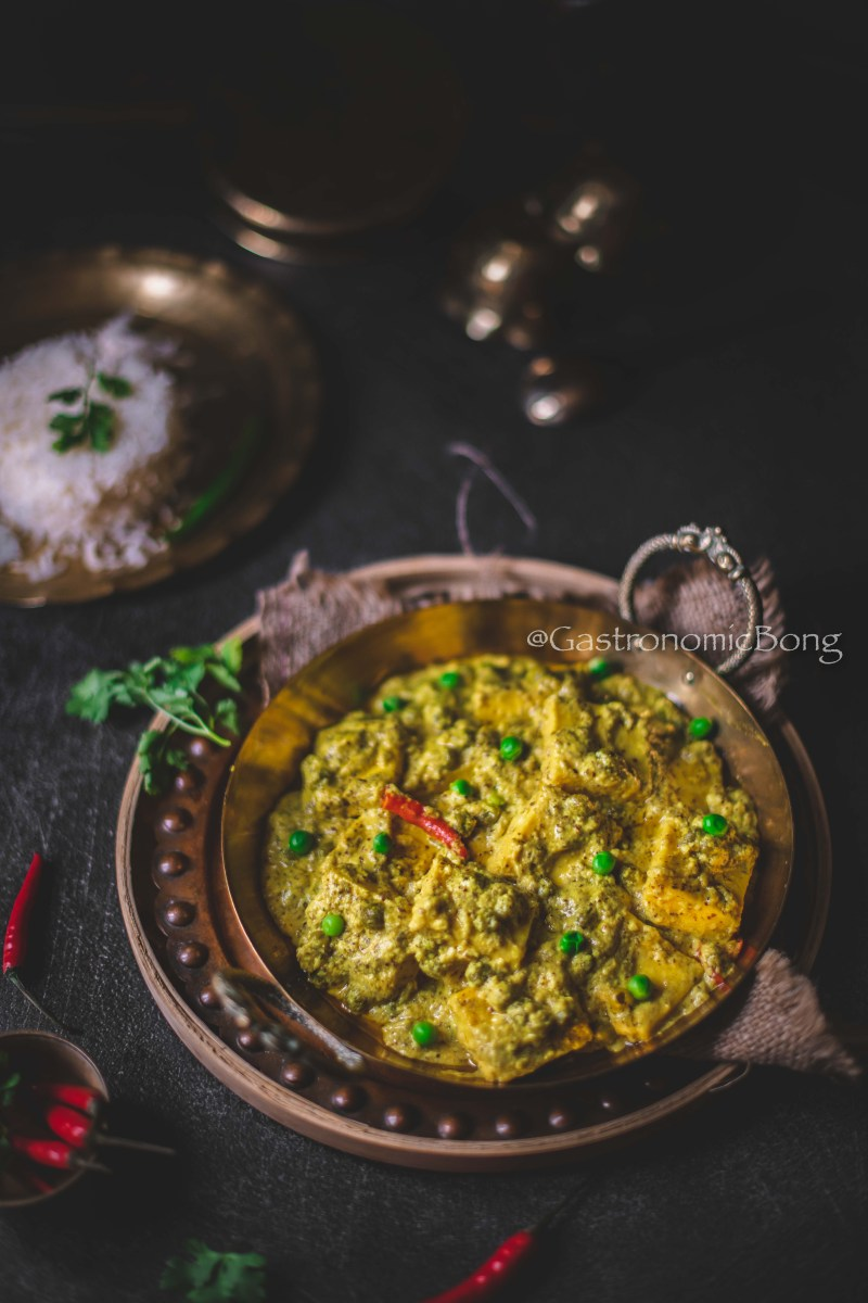 Shorshe paneer (Cottage Cheese in Mustard Sauce)