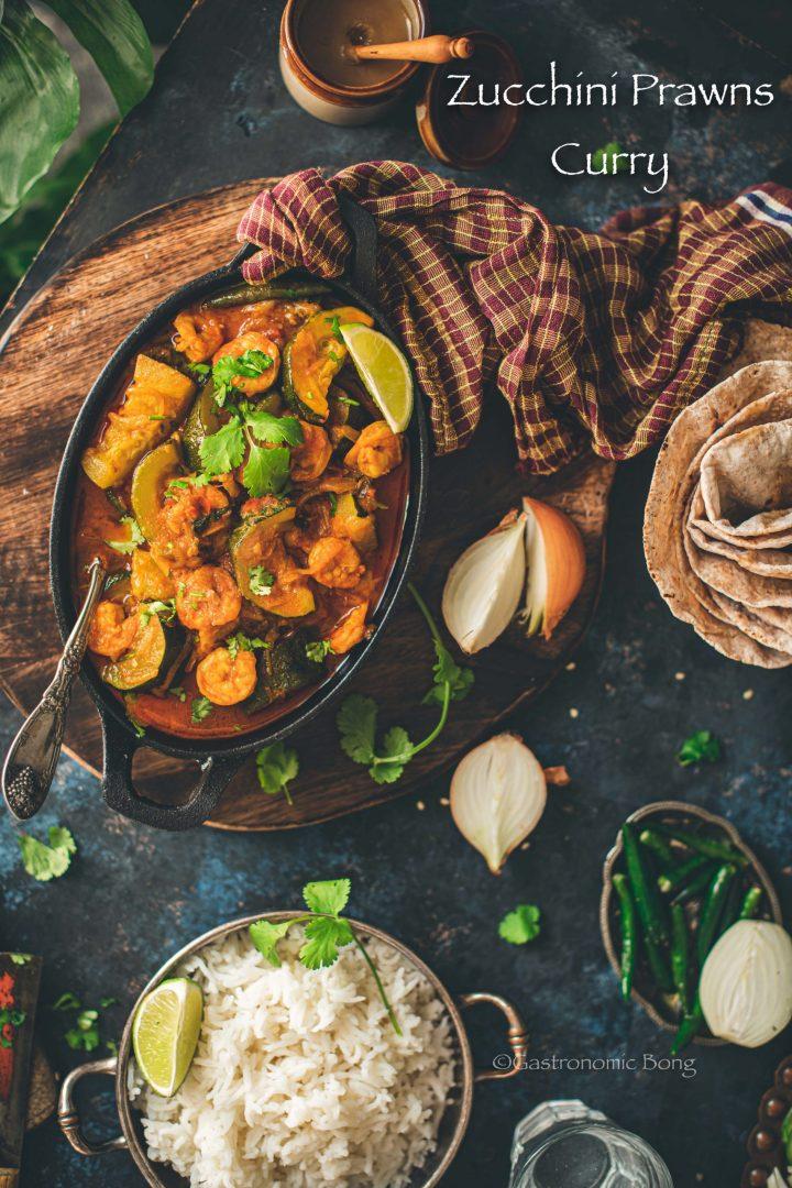 Zucchini Prawns Curry