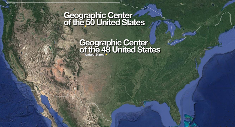 Are the Real Geographic Centers of the United States Incorrectly Marked? -  The GateThe Gate