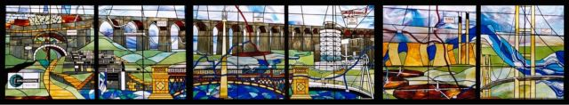 Leeds University stained glass