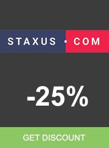 Staxus.com save 25%