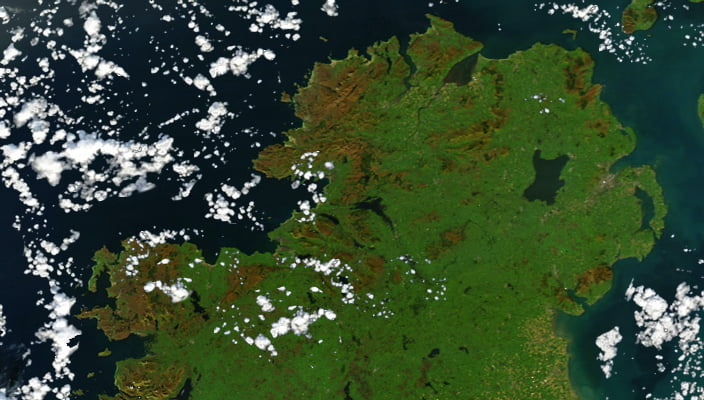 Northern Ireland from space - The Gay Say