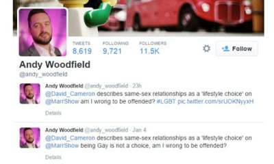 Andy Woodfield's twitter feed