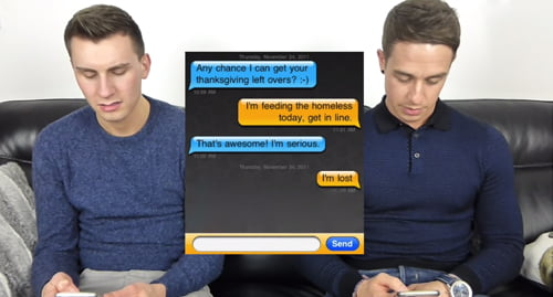 more Gay Guys Reading their GRINDR Messages!