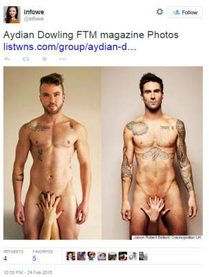Transgender Magazine Recreates Naked Adam Levine Photo