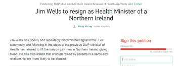 resignation of northern ireland health minister