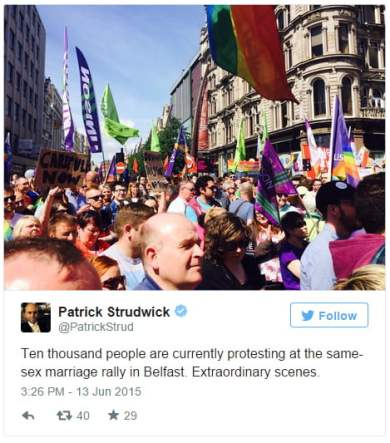 marriage equality patrick strudwick northern ireland tweet