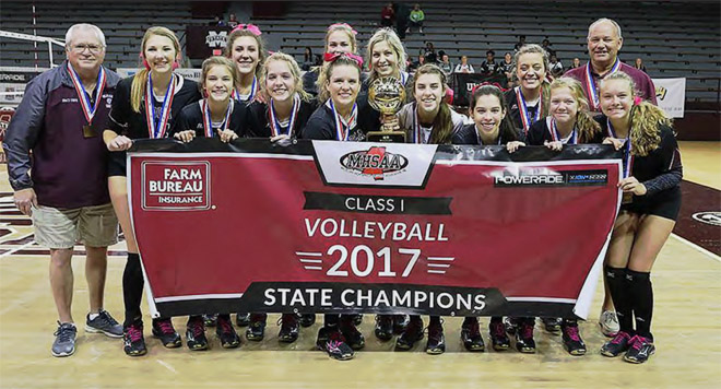 Crescents soar past Eagles for state volleyball title