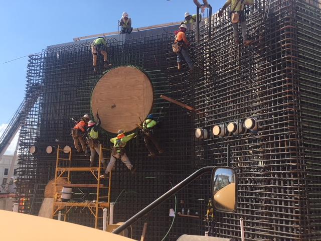 Construction of MS Aquarium Moves Quickly