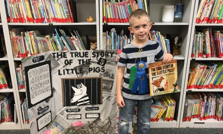 Pineville Elementary Second Grader Wins District Reading Fair for Harrison County