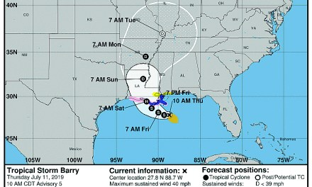 Barry Could Cause Flooding & Damage