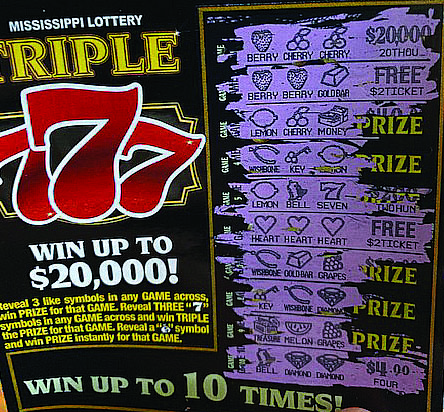 JUMPIN' JACKPOT FLASH:  Mississippi Welcomed Scratch Lottery Monday