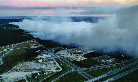 West Harrison County Brushfire Continues for Second Day