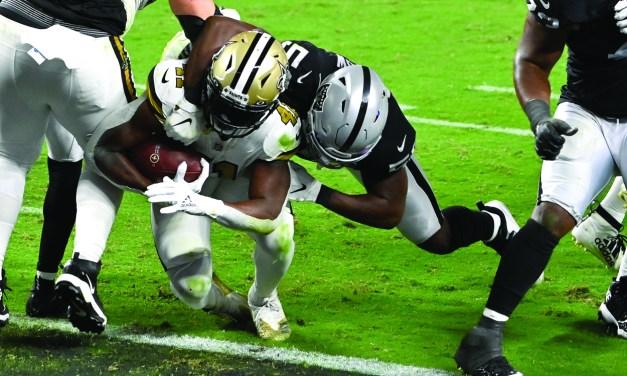 Raiders Win 34-24 over Saints