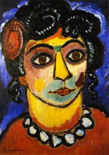 Asian Woman, 1912, Oil on board, The Judy and Michael Steinhardt Collection, New-York.