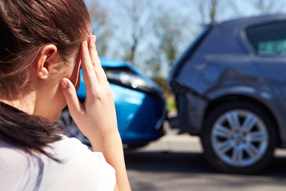 Woman distressed after involvement in car accident