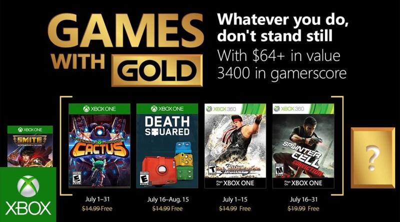 Divulgados jogos da Games with GOLD de julho de 2018