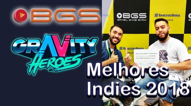 Por escolha popular, Gravity Heroes venceu nossa enquete de melhor jogo indie da #BGS2018.