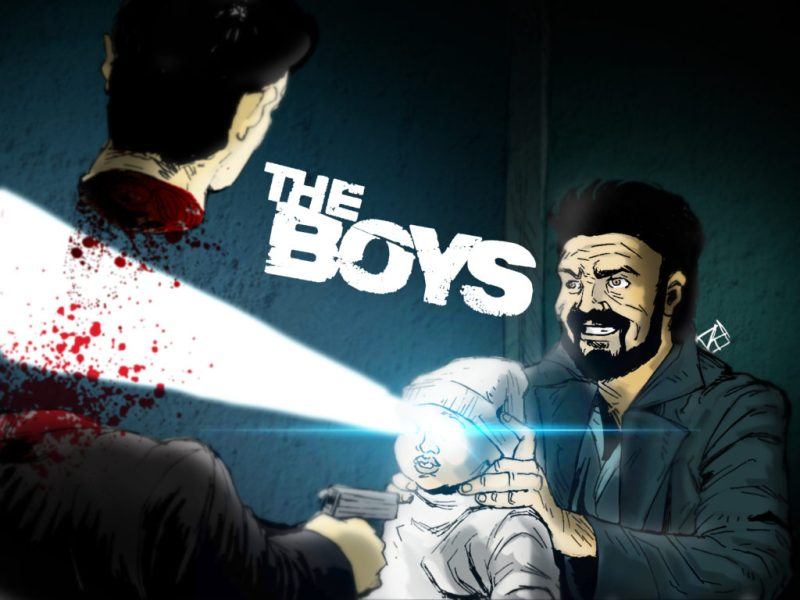 Ilustração de Billy Butcher (Karl Urban) pelo artista Rafael Danesin