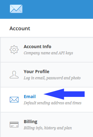 setting convertkit default sending address