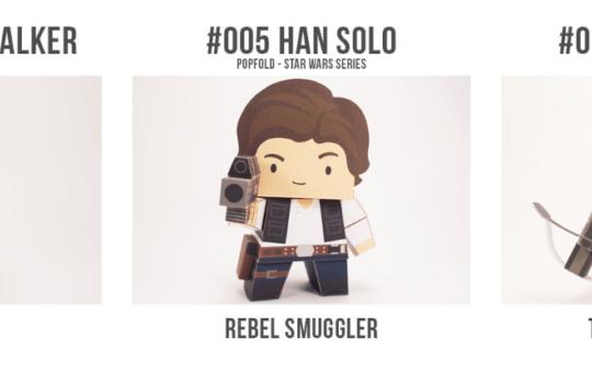 Star Wars Cubefold Popfolds