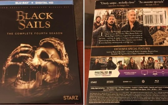 Black Sails Season 4 Blu-ray review DVD